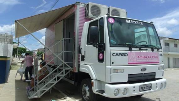 Carro da Mamografia estará nesta sexta-feira em Taperoá.