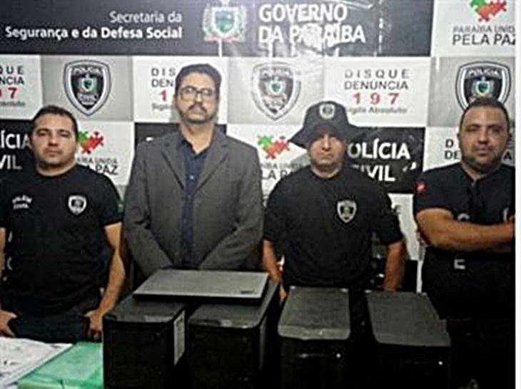Operação policial apreende computadores da empresa que realizou concurso no municipio de taperoá.