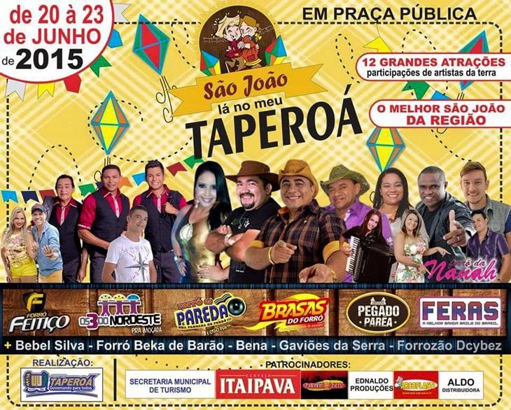 """Confira a programação do São João Lá No Meu Taperoá """"2015"""""""