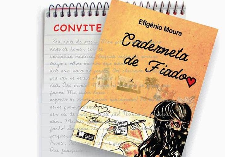 """Convite para o lançamento do livro """"Caderneta de Fiado"""", de Efigênio Moura."""