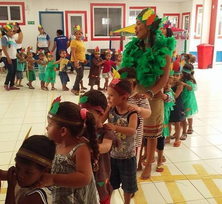 Dia do Índio é comemorado na creche municipal.