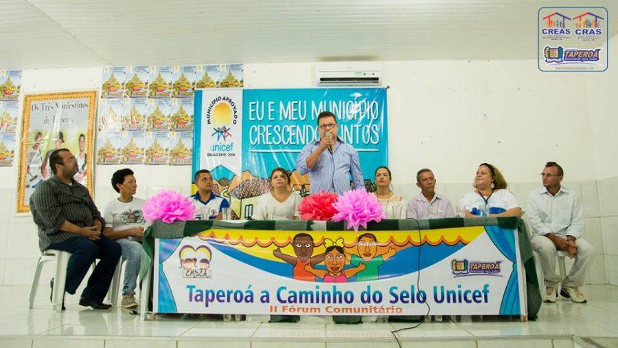 Prefeitura de Taperoá realiza 2º Fórum Comunitário Selo Unicef