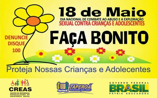 Taperoá: CREAS realiza atividade alusiva ao dia 18 de Maio