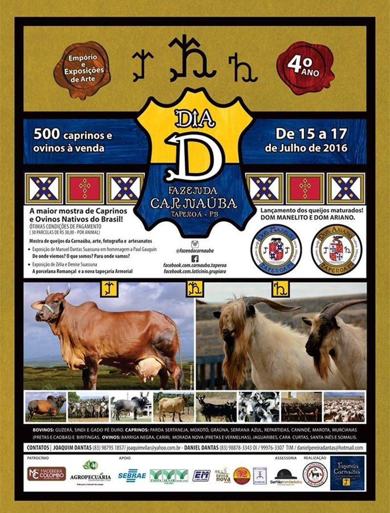 Leilão oferece mais de 500 bovinos, caprinos e ovinos em Taperoá