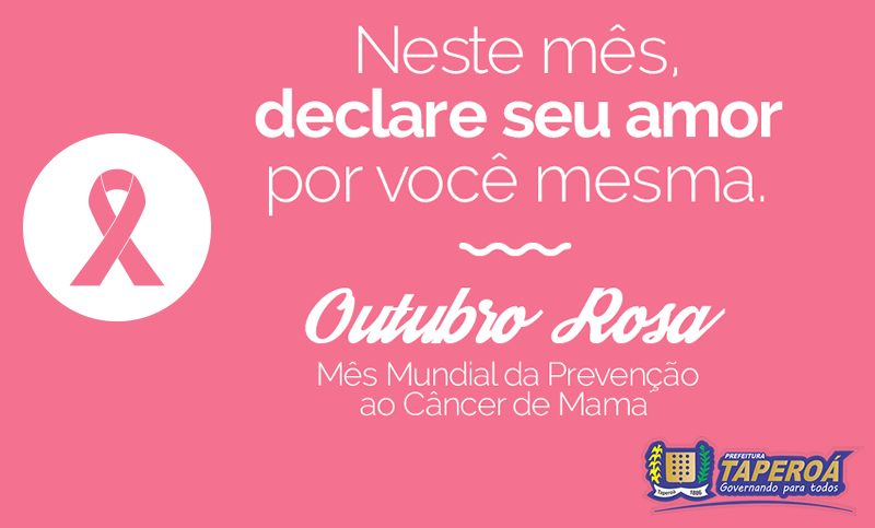 Prefeitura de Taperoá lança cronograma de ações ao 'Outubro Rosa'