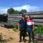 Presidente da Câmara de Taperoá e vereador, visita adutora do Pajeú no município de Itapetim