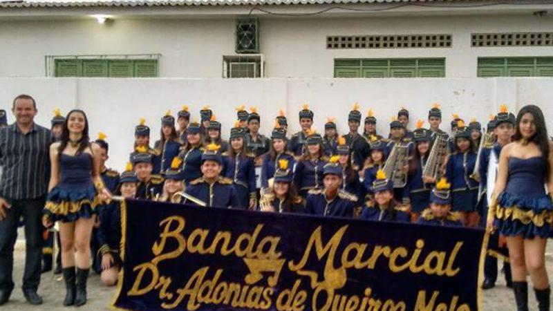 Programação Cultural da Campanha Faça Bonito: Banda de Música da Escola Estadual Melquíades Vilar, em Taperoá, dia 26/05/201